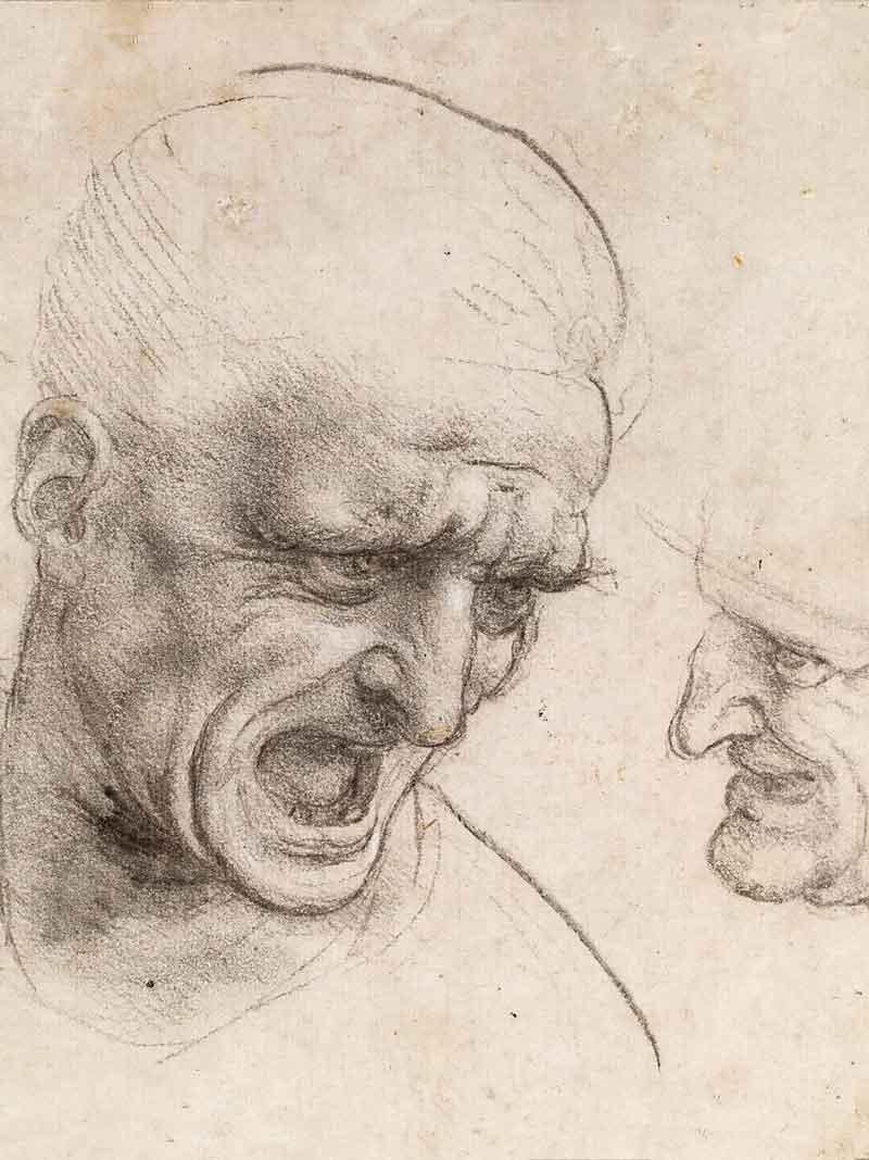 Leonardo, Studio preparatorio per la Battaglia di Anghiari