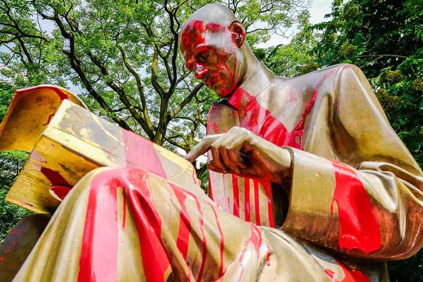 Indro Montanelli Guerra delle statue