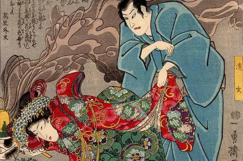 Utagawa Kuniyoshi, Seigen e la principessa Sakura, 1845