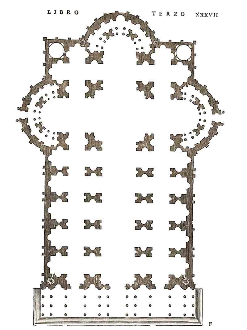 Pianta Longitudinale Raffaello San Pietro