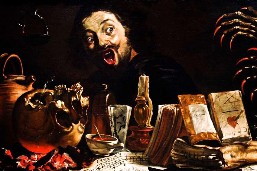 Pieter van Laer Autoritratto Demone amante