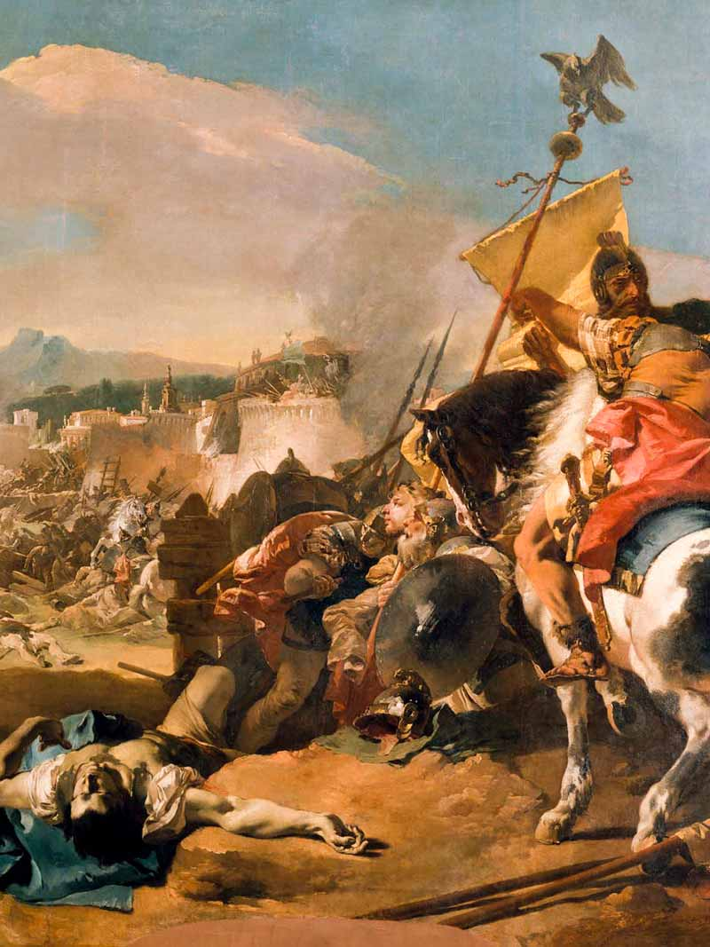 Giambattista Tiepolo, La presa di Cartagine, 1725-29